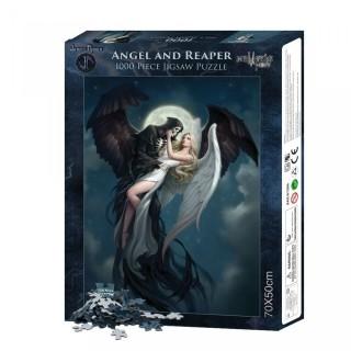 """Puzzle 1000pcs à Ange et Faucheuse """"Angel and The Reaper"""" - James Ryman"""