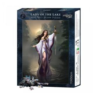 """Puzzle 1000pcs à Dame du lac """"Lady of the Lake"""" - James Ryman"""