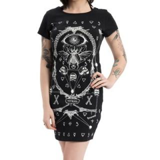 "Robe gothique-rock Jawbreaker à imprimé mystique ""Vitriol"""