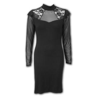 Robe longue élégante gothique à épaules dentelle