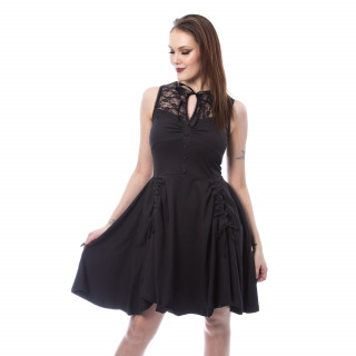 """Robe noire épaules dentelle """"SOPHIE DRESS"""" - Poizen Industries"""