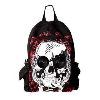 achat sac dos goth rock banned t te de mort avec enceintes dans les orbites pas cher. Black Bedroom Furniture Sets. Home Design Ideas