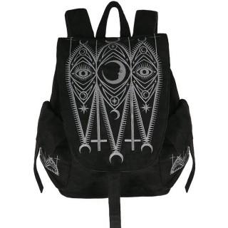 Sac à dos gothique suédine à symboles mystiques - Restyle