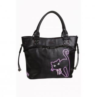 Achat sac main gothique banned noir avec imprim chat et for Miroir casse conjurer sort