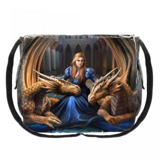 Sac besace à reine et dragons protecteurs - Anne Stokes