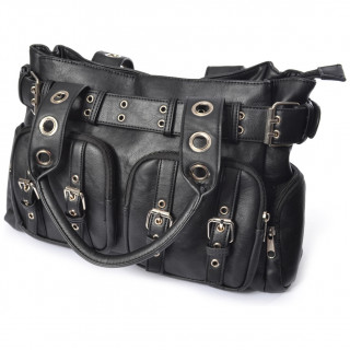 Sac besace similicuir goth-rock EVE - Poizen Industries