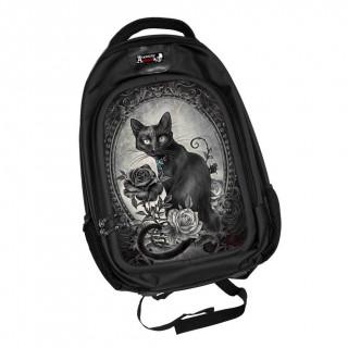 Sac à dos effets 3D gothique à chat noir et roses - Alchemy
