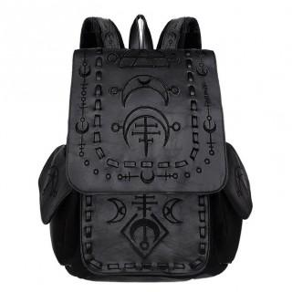Sac à dos gothique runes lunaires noires - Restyle