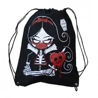 "Sac ficelle gothique kawaii ""Revenge is Sweet"" - Akumu Ink"