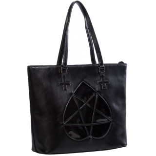 Sac à main gothique à pentagramme coeur  - Banned