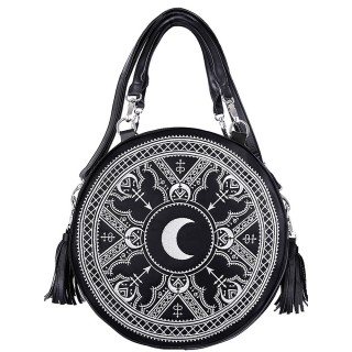 Sac à main gothique rond HENNA WHITE ROUND BAG - Restyle