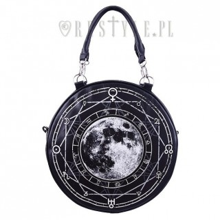 Sac à main gothique rond à Lune et Runes - Restyle