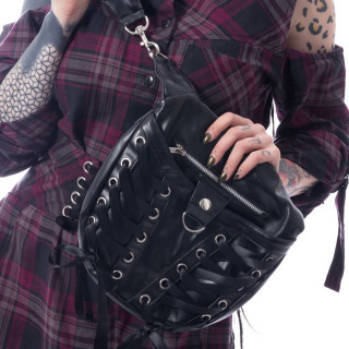 Sac à main noir gothique CORSET BAG - Poizen Industries