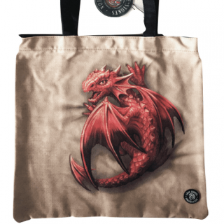 Sac shopping à jeune dragon rouge - Anne stokes