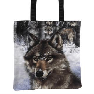 Sac shopping à meute de loup dans la neige