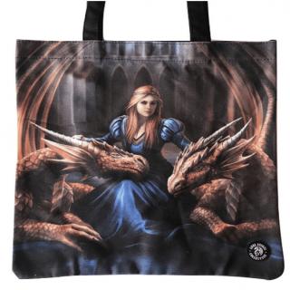 Sac shopping à reine et dragons protecteurs - Anne stokes