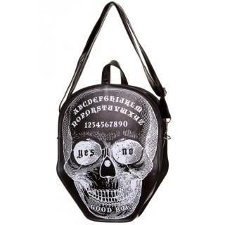 Sacoche bandoulière Banned en forme de tête de mort style Ouija