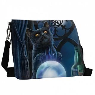 Sacoche 25cm à chat noir et boule de cristal - Lisa Parker