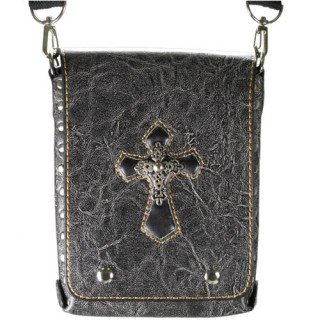 Sacoche gothique à croix tribale en métal
