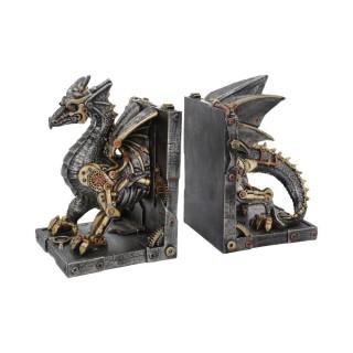 """Serre-livres à dragon steampunk """"Dracus Machina"""" (27cm) - Nemesis Now"""
