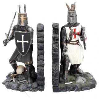 Serre-livres style médiéval à soldats en armures (19cm)