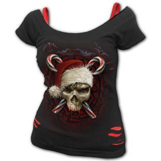 T-shirt débardeur (2en1) à crane et sucre d'orge