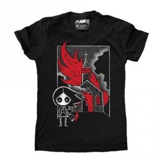 "T-shirt femme fillette sataniste ""The Prophecy"" - Akumu Ink"
