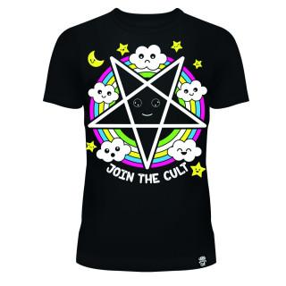 T-shirt femme à pentagramme psychédélique - Cupcake Cult