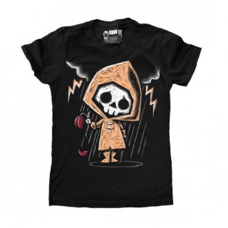 "T-shirt femme squelette coeur brisé ""She Loves Me Not"" - Akumu Ink"