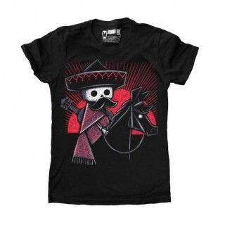 "T-shirt femme à squelette mexicain ""The Lost Nomad"" - Akumu Ink"