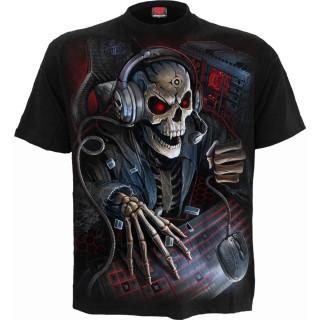 T-shirt gothique enfant à squelette PC GAMER