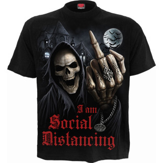 """T-shirt gothique homme """"I am Social Distancing - Isolation 2020"""""""