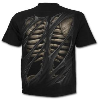 T-shirt gothique homme à aspect déchiré sur cage thoracique