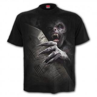T-shirt gothique homme réveil du vampire avec cerceuil