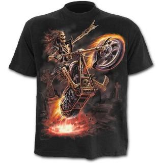 """T-shirt gothique noir pour enfant """"Hell Rider"""""""