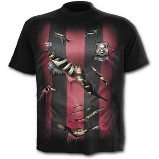T-shirt gothique noir pour enfant style maillot de football équipe de la grande faucheuse
