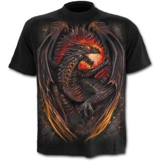 T-shirt homme avec dragon flamboyant