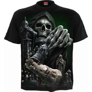 T-shirt homme avec La Mort gagnant aux échecs