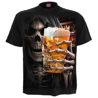 T-shirt homme avec La Mort tenant une bière