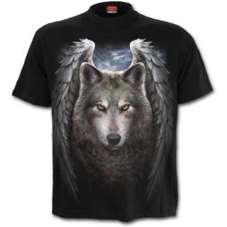 T-shirt homme avec loup à ailes d'anges