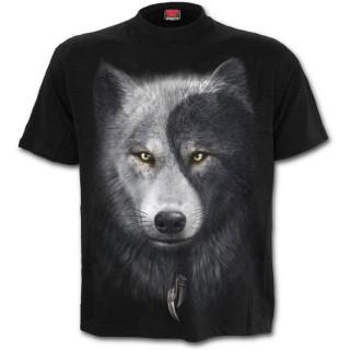 T-shirt homme avec loups et attrape rêve inspiration Yin et Yang