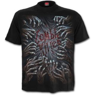 T-shirt homme avec mains de zombies tueurs