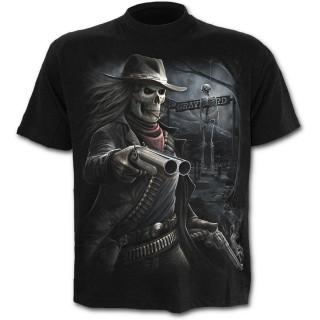 T-shirt homme avec squelette cowboy