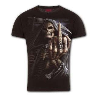 T-shirt homme coupe moderne avec la Mort faisant un fuck
