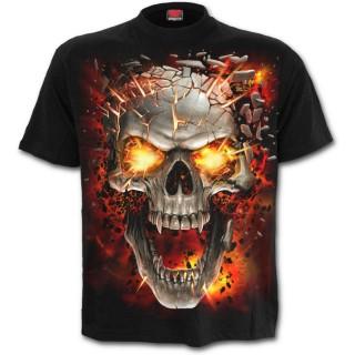 T-shirt homme à crane explosif