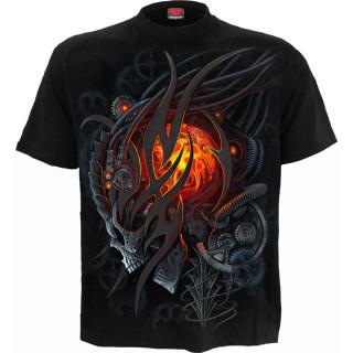 T-shirt homme à crane flamboyant STEAMPUNK SKULL