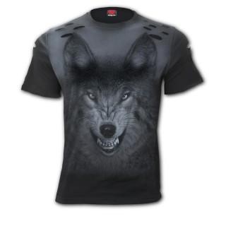 T-shirt homme déchiré SHADOW WOLF