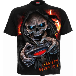 """T-shirt homme """"GAMERS NEVER DIE THEY RESPAWN"""""""