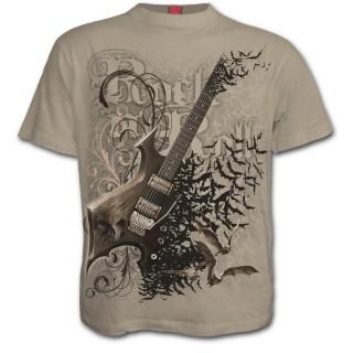 """T-shirt homme goth-rock pierre """"NIGHT RIFFS"""""""