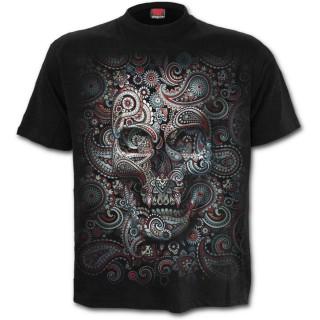 T-shirt homme goth-rock à tête de mort camouflées